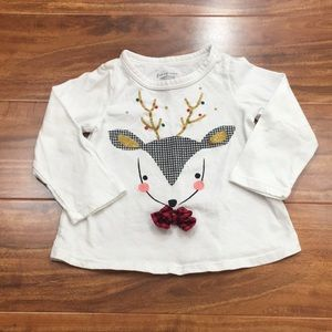 3/$25 First Impressions Baby Girl Reindeer Top 12M